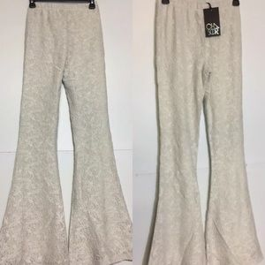Chaser Lace Bell Bottoms salt  Casual Pants S L